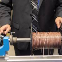 2018 Wire Spooling Senior Design Project displayed at the School of Engineering